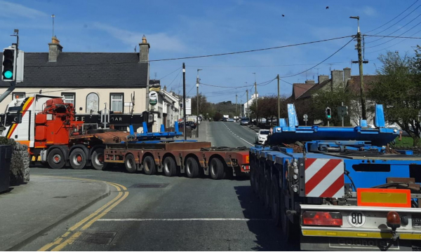 Off to load beams in Banagher