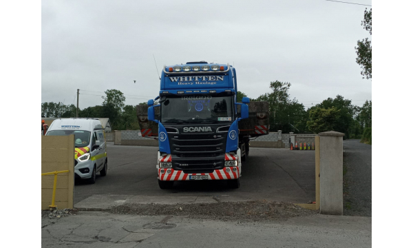 Whitten Road Haulage - 5m wide Waterbreaker Kilkenny to Ringaskiddy