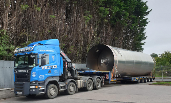 Whitten Road Haulage - 3.5m wide silo Germany to Dungannon
