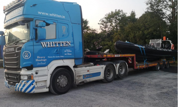 Whitten Road Haulage  - 3m wide boat to Fecamp, France
