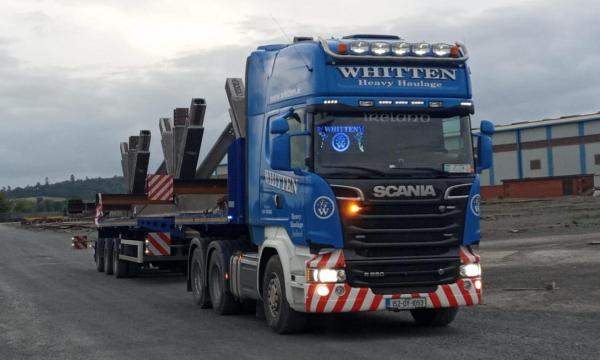 Whitten Road Haulage - 20m long, 3.8m wide Steel Structure to Retford UK